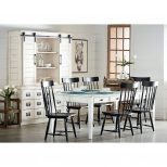 Farmhouse Keeping Table Six Farmhouse Spindle Back Chairs And Two