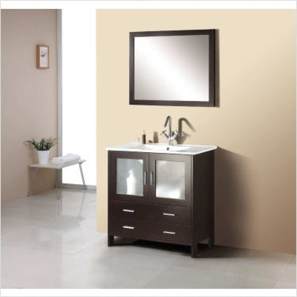 Felice 355 Bathroom Vanity Set In Espresso