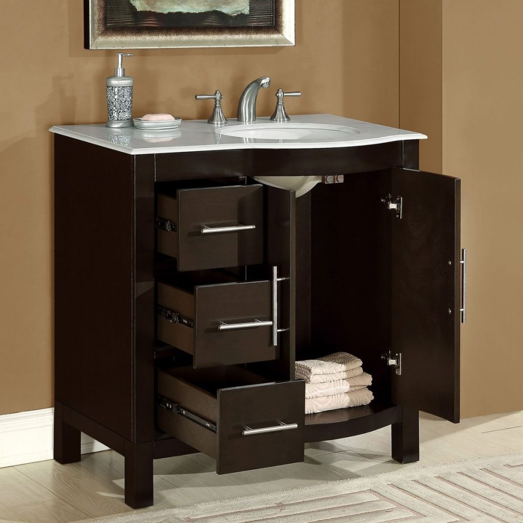 Free Bathroom Vanities With Drawers On Left Side Incredible Design