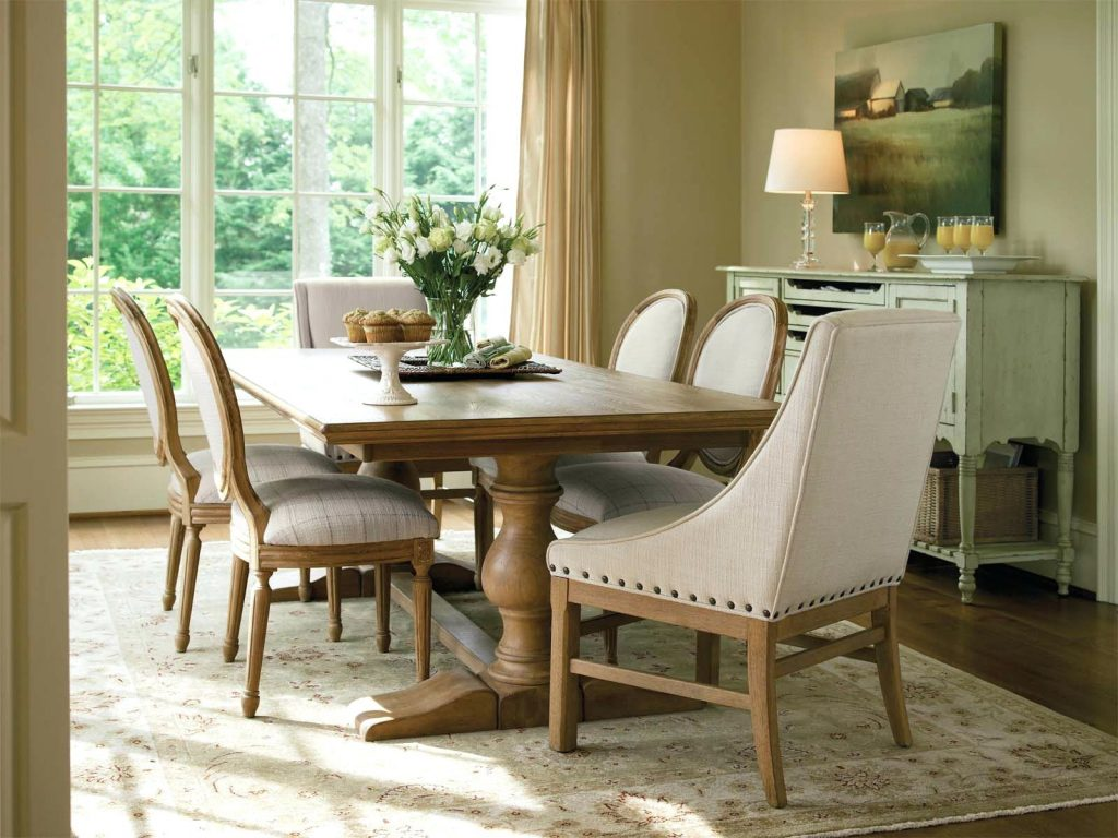 French Country Dining Table With Bench Country Style Dining Table