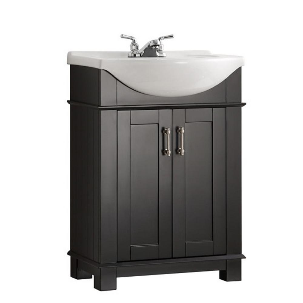 Fresca Hudson 24 In W Traditional Bathroom Vanity In Black With