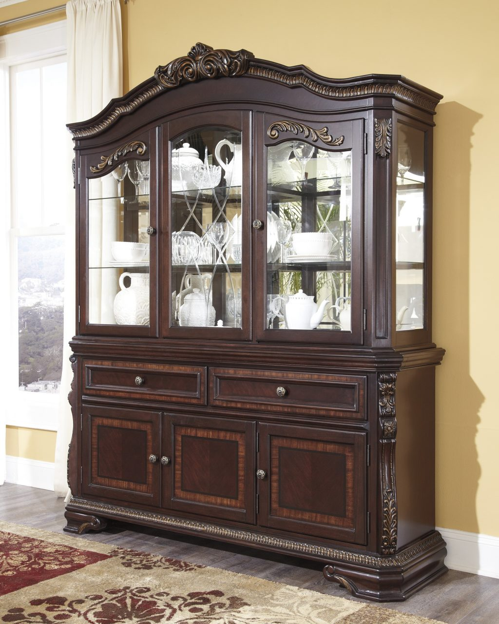 Furniture Furniture With Wendlowe Dining Room Buffet And Hutch