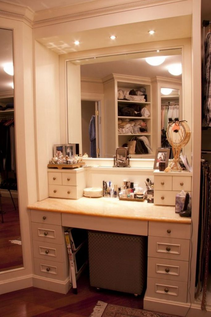 Furniture Vanity Makeup Table With Drawers And Mirror For Makeup