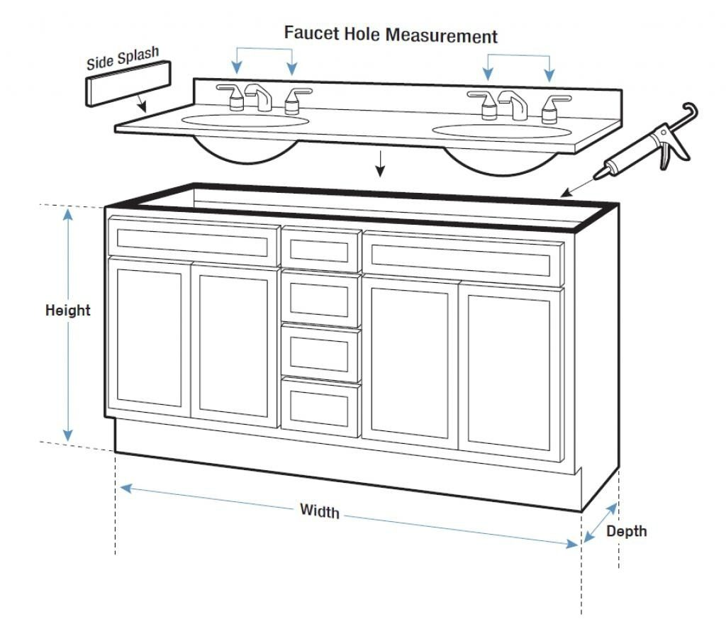 Garage Bathroom Vanity Height Bathroom Vanity Counter Standard