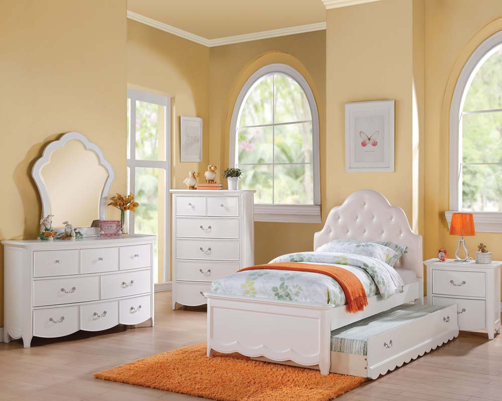 Girls White Bedroom Set Cecilie In Acme Furniture Ac30300set