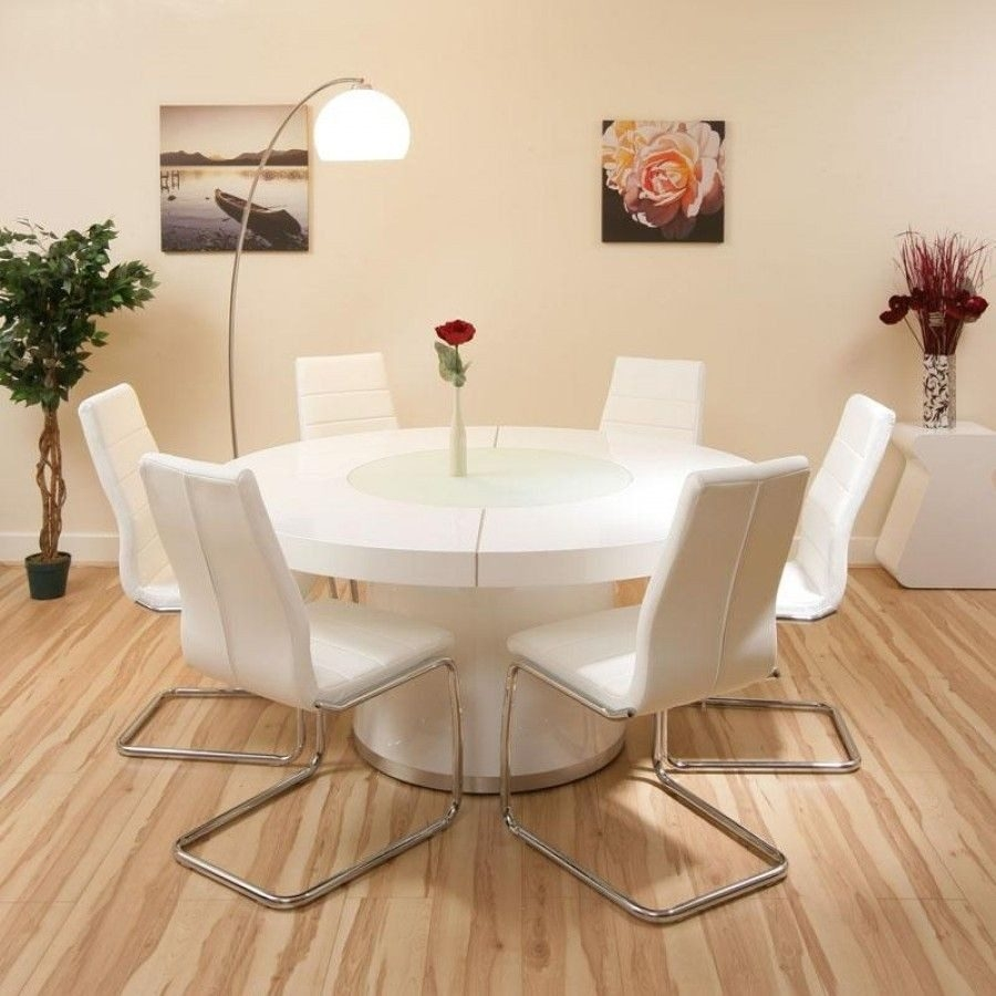 Glamorous White Gloss Table And Chairs 16 High Dining Grey Extending