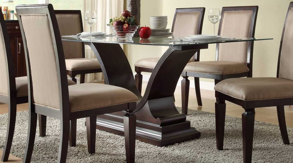 Glass Dining Room Table Base Bases Tops Fancy Design Ideas Using