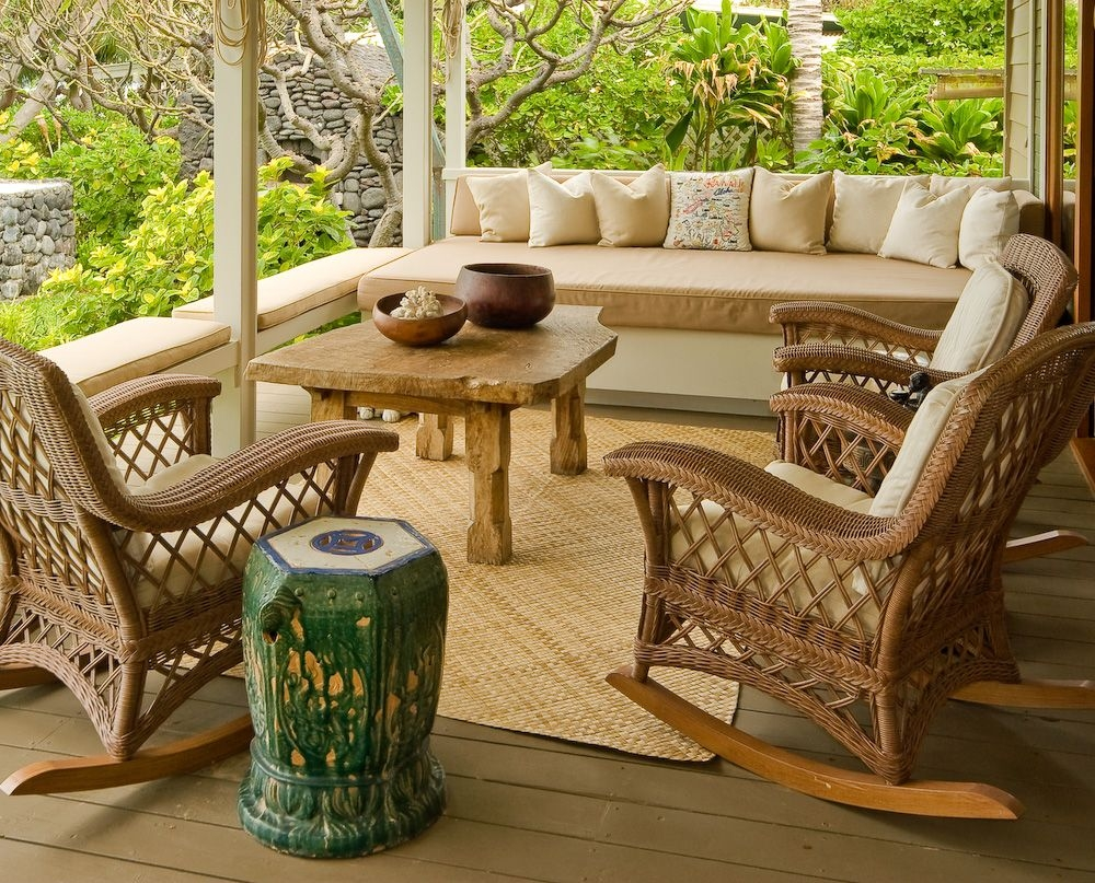 Great For Upstairs Balcony Sitting Area Love The Rocking Chairs