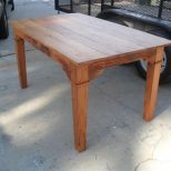 Hand Crafted Custom Dining Table Made From Reclaimed Wood Custom