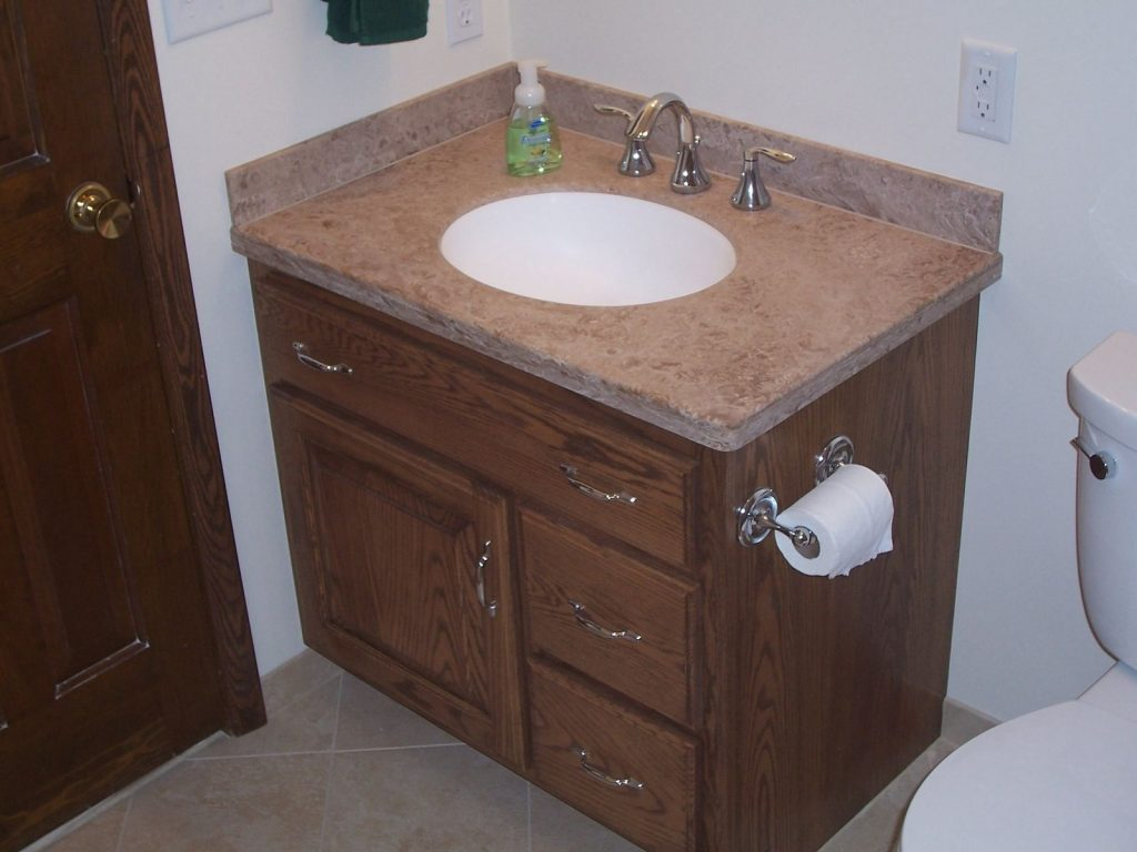 Handmade Custom Oak Bathroom Vanity And Linen Cabinet Jeffrey