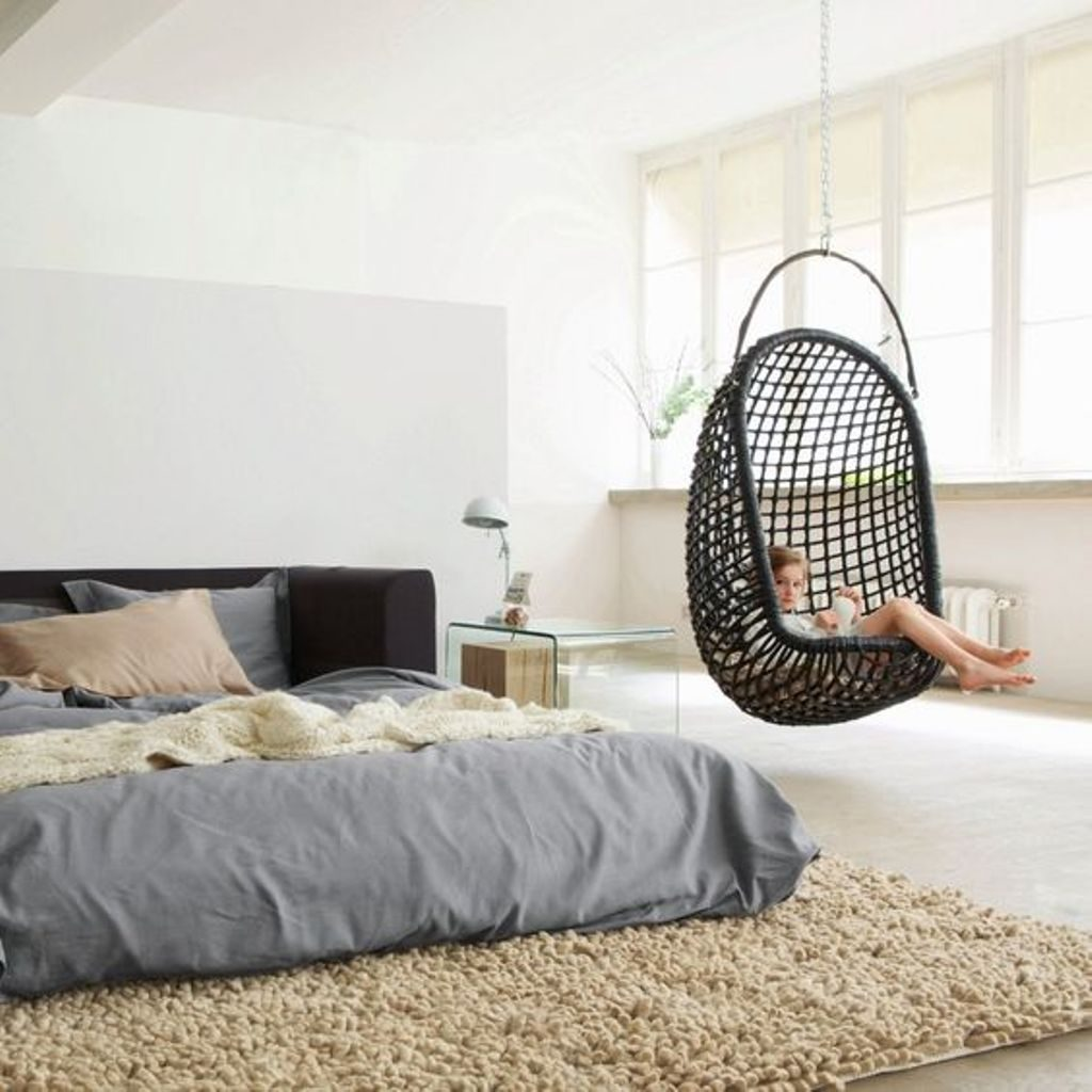 Hanging Chair For Bedroom Be Creative Bedroom Design Interior