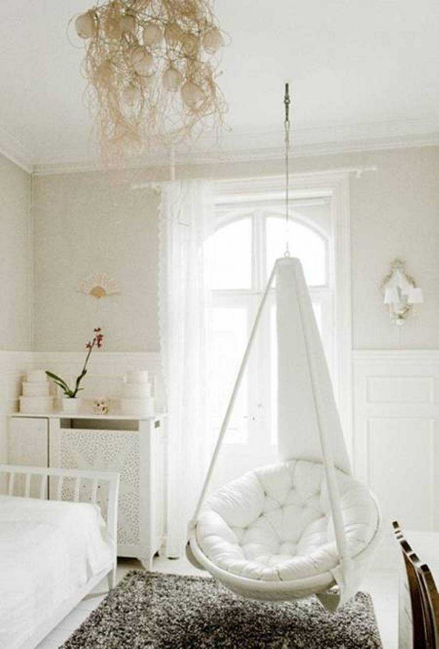 Hanging Hammock Chair For Bedroom Ideas With Awesome Footrest Pillow