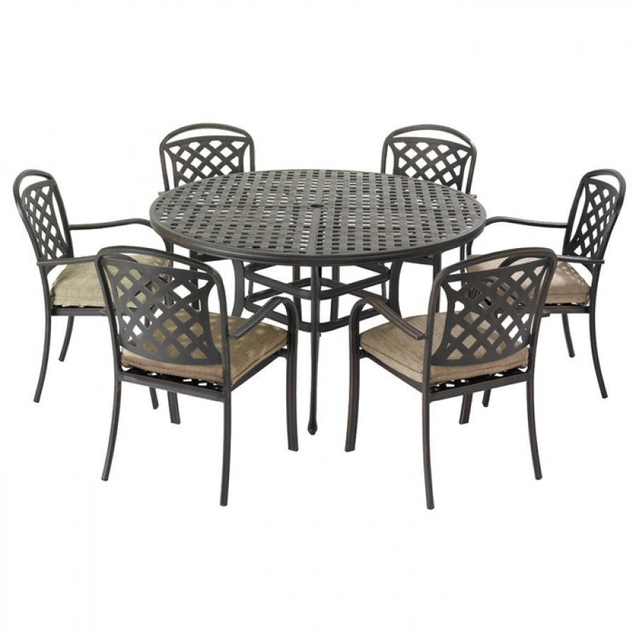 Hartman Berkeley 6 Seat Round Garden Furniture Set With Parasol