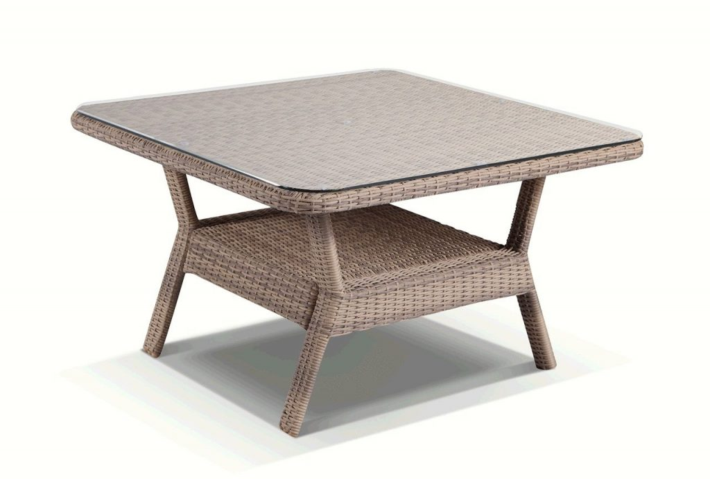 Hawaii Outdoor 6 Piece Lounge Dining Set In Brushed Wheat Wicker