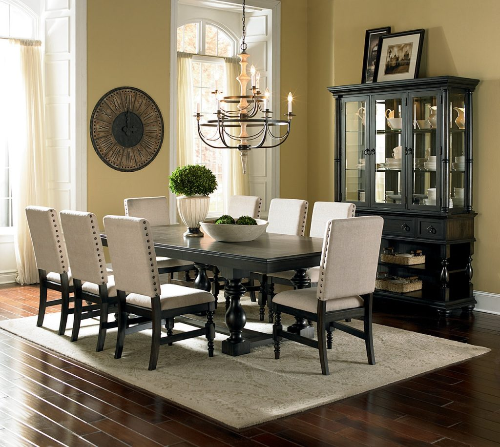 Heavenly Dining Room Sets With Fabric Chairs Decorating Ideas Of