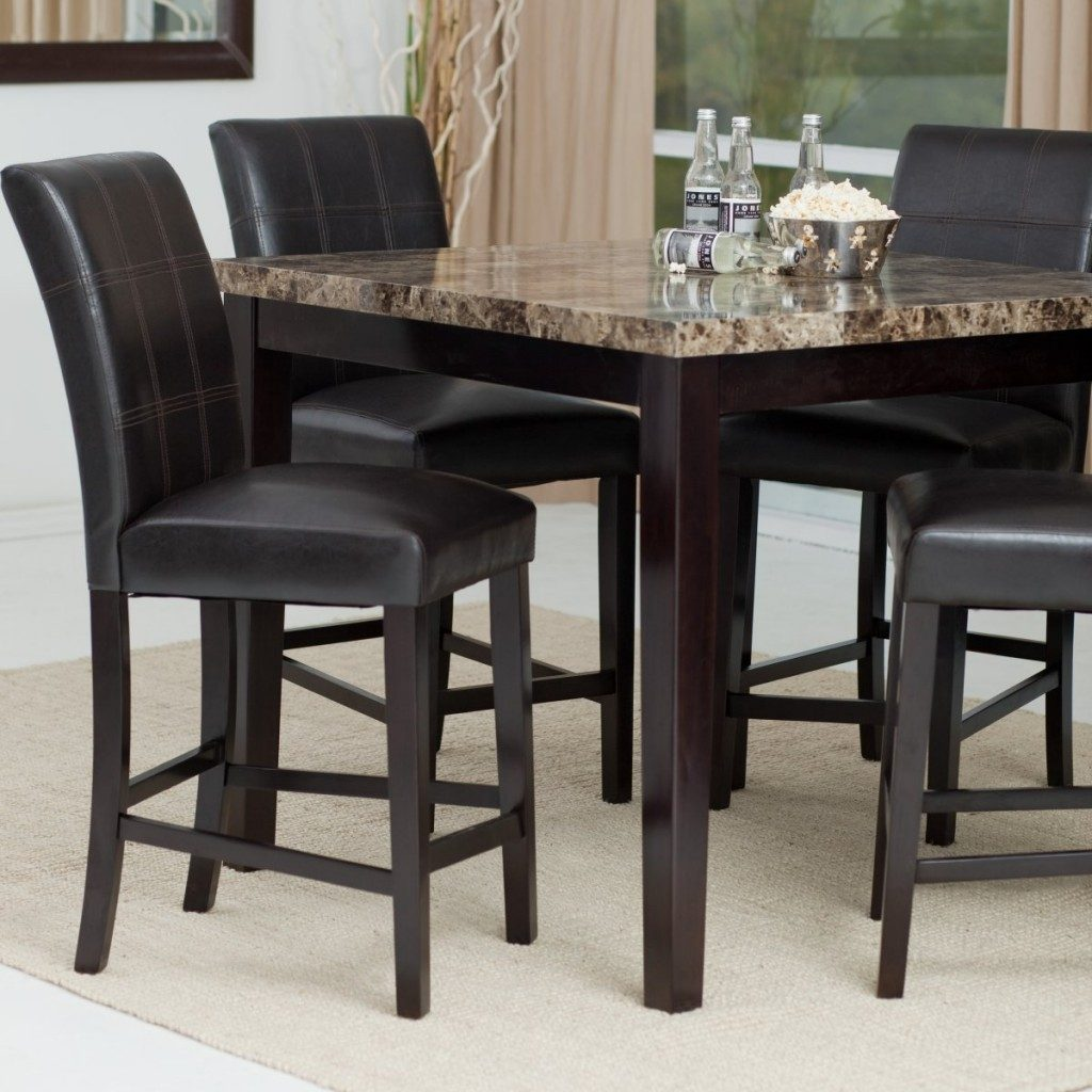 High Dining Room Chairs Stylish Bar Height Table Set Trends