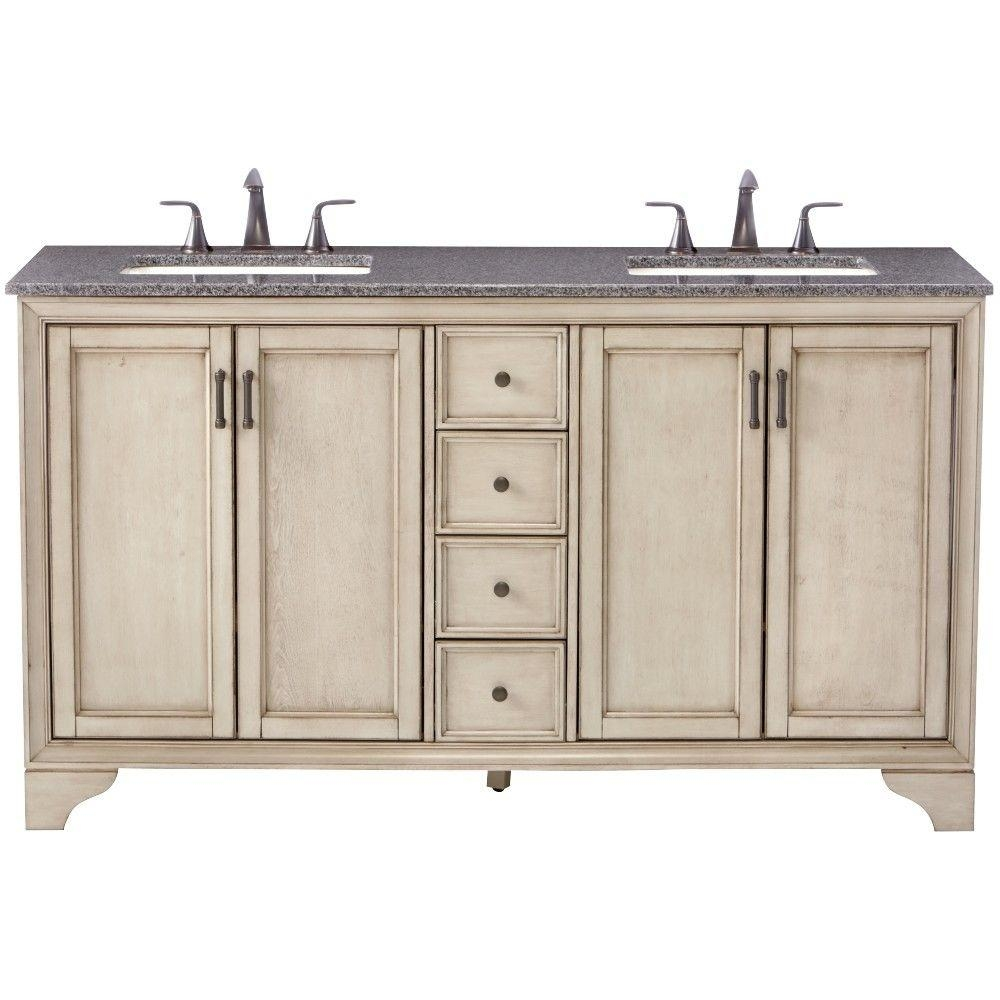 Home Decorators Collection Hazelton 61 In Double Vanity In Antique