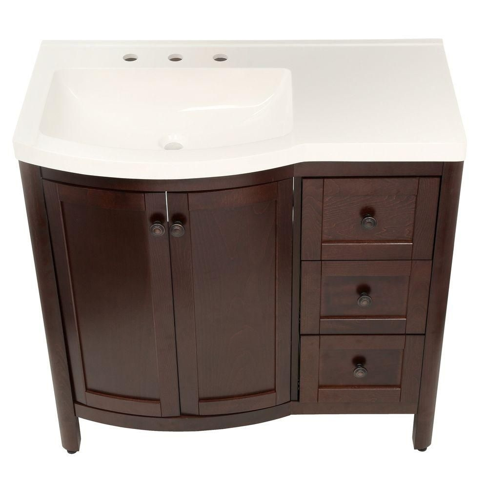 Home Decorators Collection Madeline 36 In W Bath Vanity In Chestnut