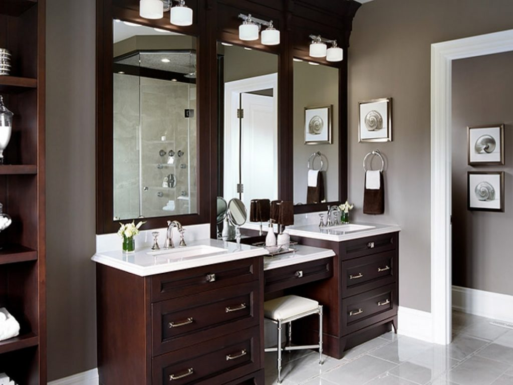 Home Design Bathroom Vanity With Makeup Area Cheap Bathroom Vanity