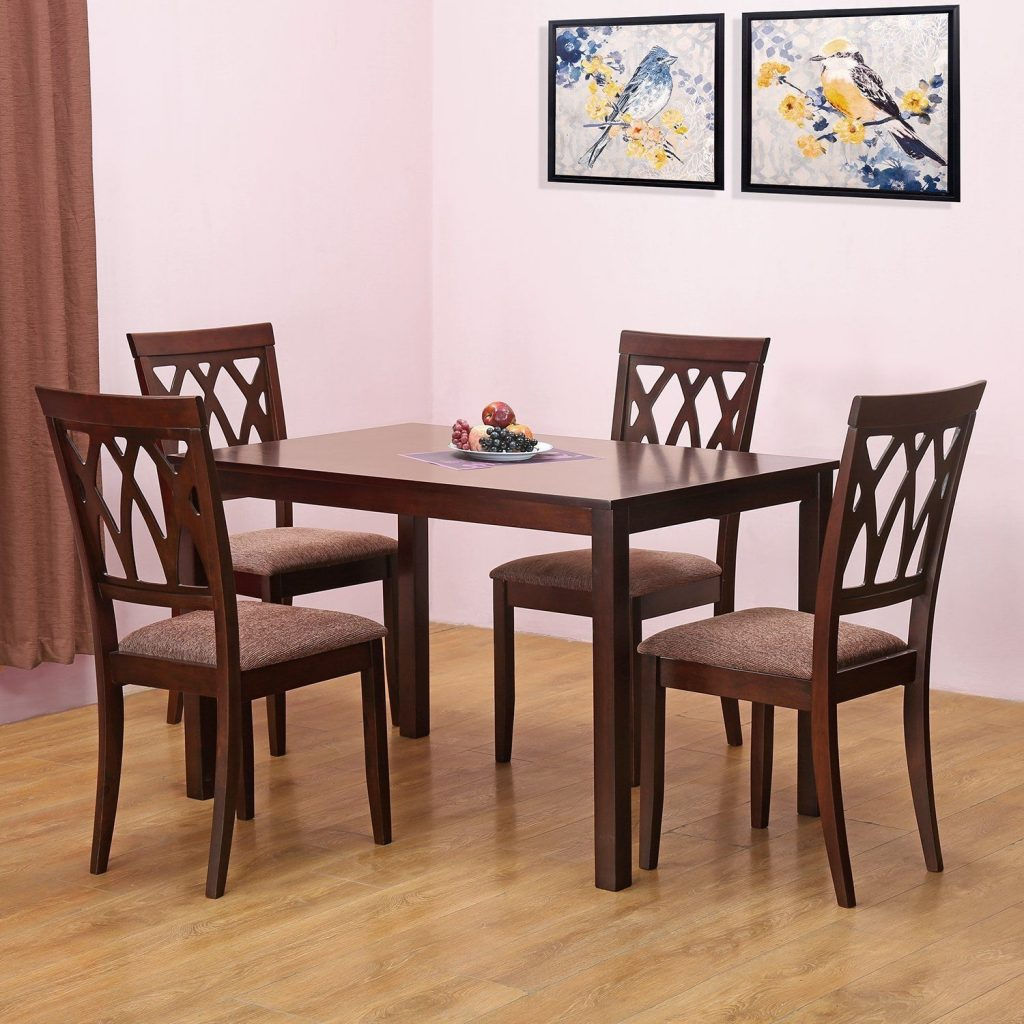 Home Nilkamal Peak Four Seater Dining Table Set Beige Best