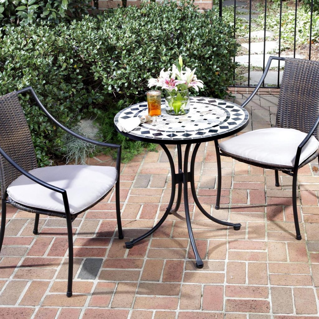 Home Styles Stone Harbor Mosaic Outdoor Dining Set Hayneedle