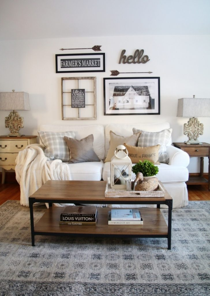 How To Design A Modern Farmhouse Gallery Wall And Living Room