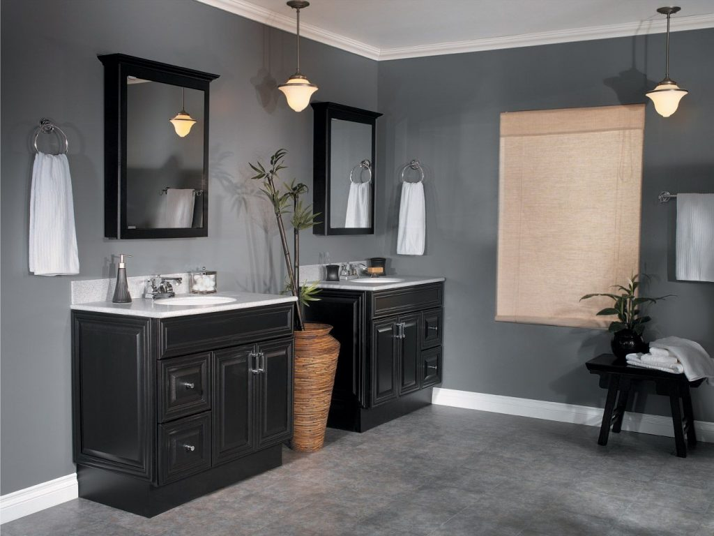 Images Bathroom Dark Wood Vanity Tile Bathroom Wall Along With