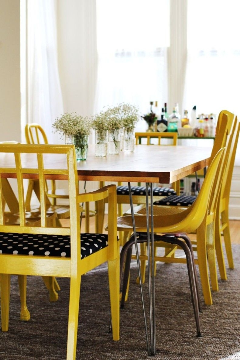 Impressed More Cheerful Dining Room With Color Yellow Simple Yellow Layjao