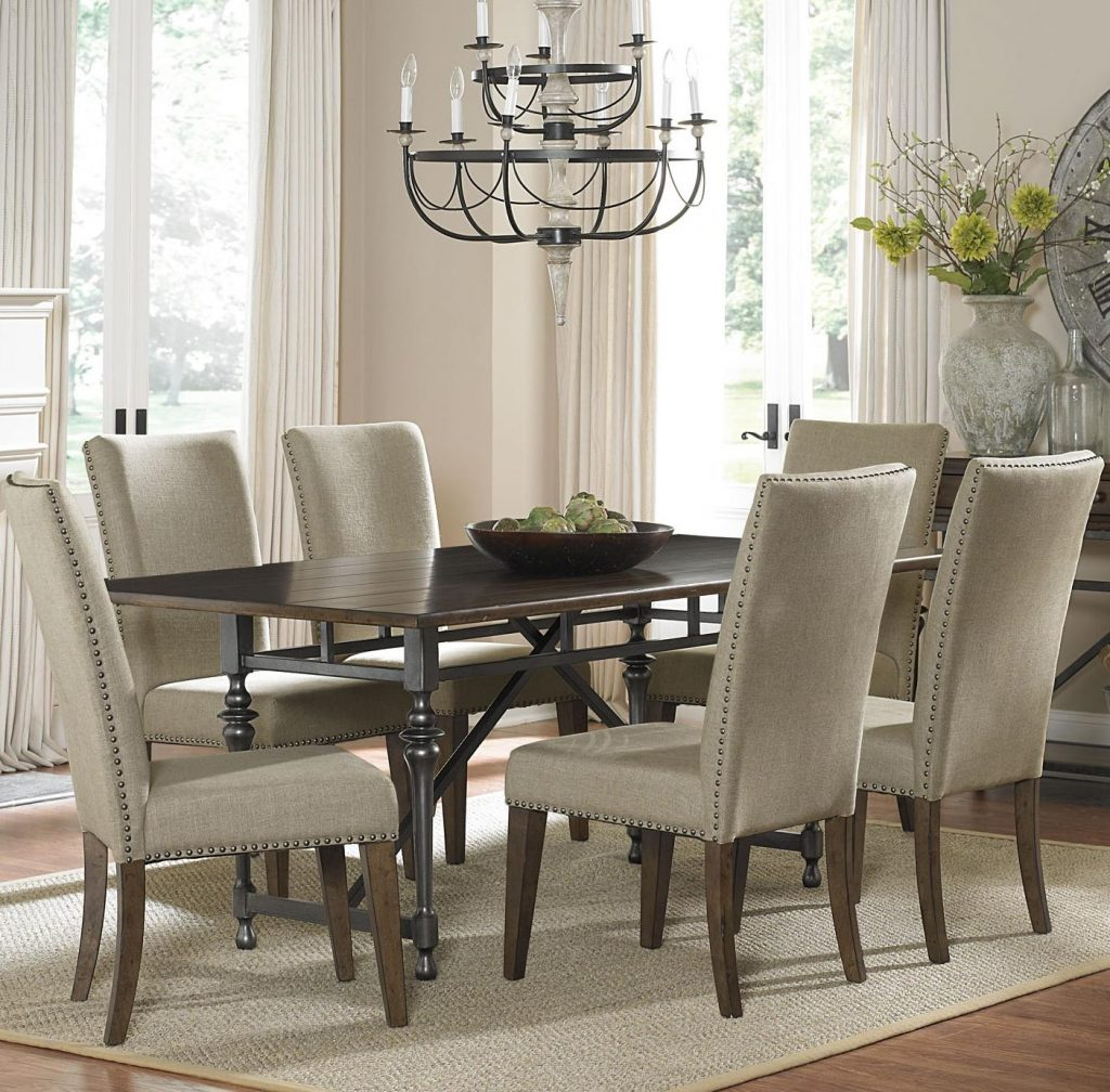Impressive Dining Room Sets With Upholstered Chairs Design And