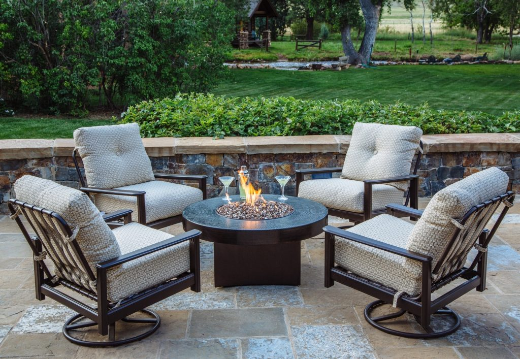Inspirational Patio Furniture With Gas Fire Pit Table