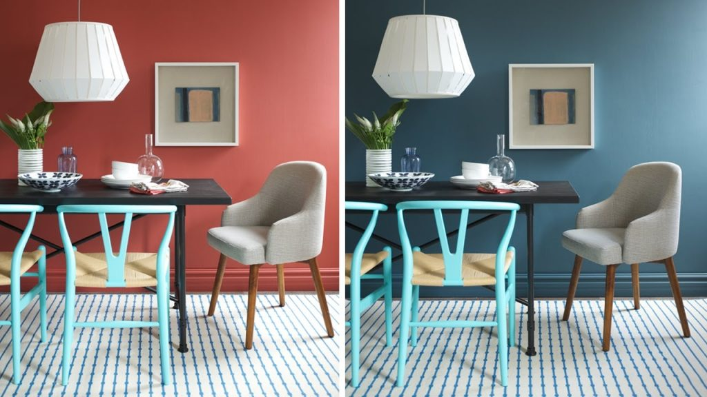 Interior Design One Dining Room Two Different Wall Colors Youtube