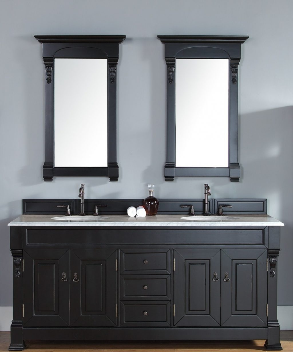 James Martin Brookfield Collection 72 Double Vanity Antique Black