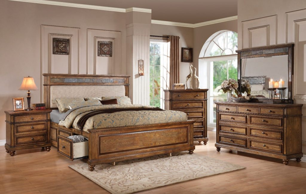 King Storage Bedroom Set For Queen Sonoma Piece Dark Brown The
