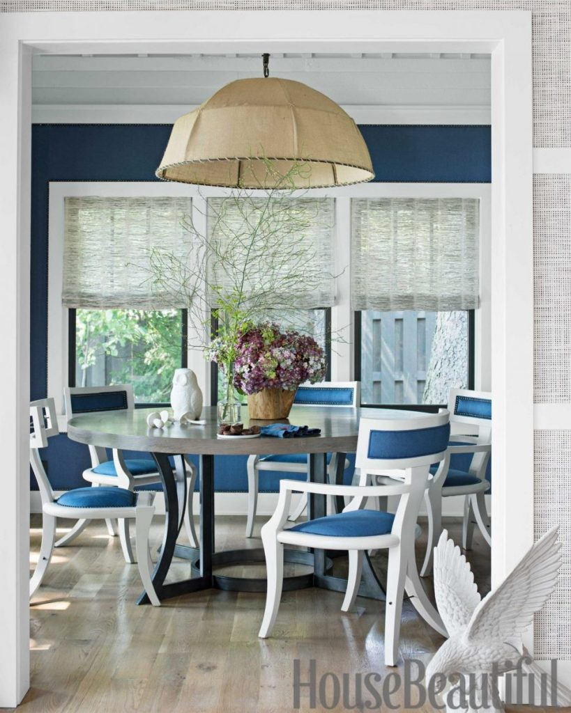 Kitchen And Dining Chair Navy Blue Fabric Dining Chairs Genuine