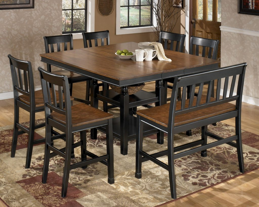 Kitchen Square Table Seats 8 On Within Dining Room Sets That Seat