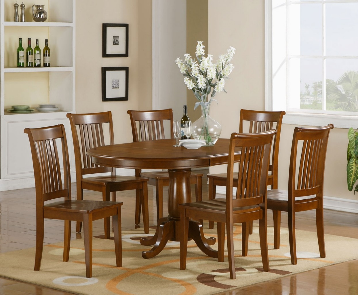 Kitchen Table Chairs Set Regarding Dining Room Chair Sets 9 Decor ...