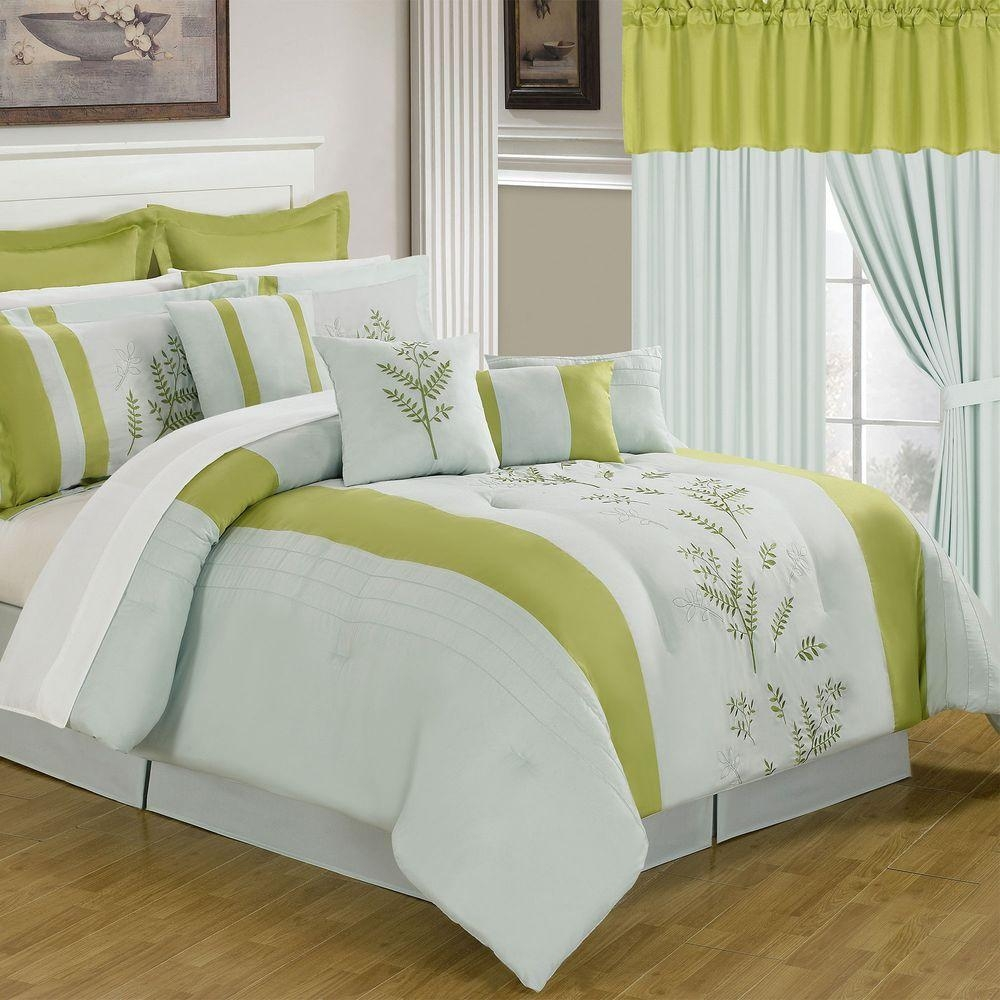 Lavish Home Maria Yellow 24 Piece Queen Comforter Set 66 00012 24pc