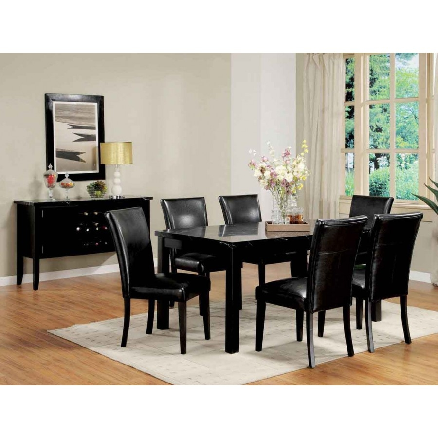 Leather Black Dining Room Chairs Trends In Black Dining Room