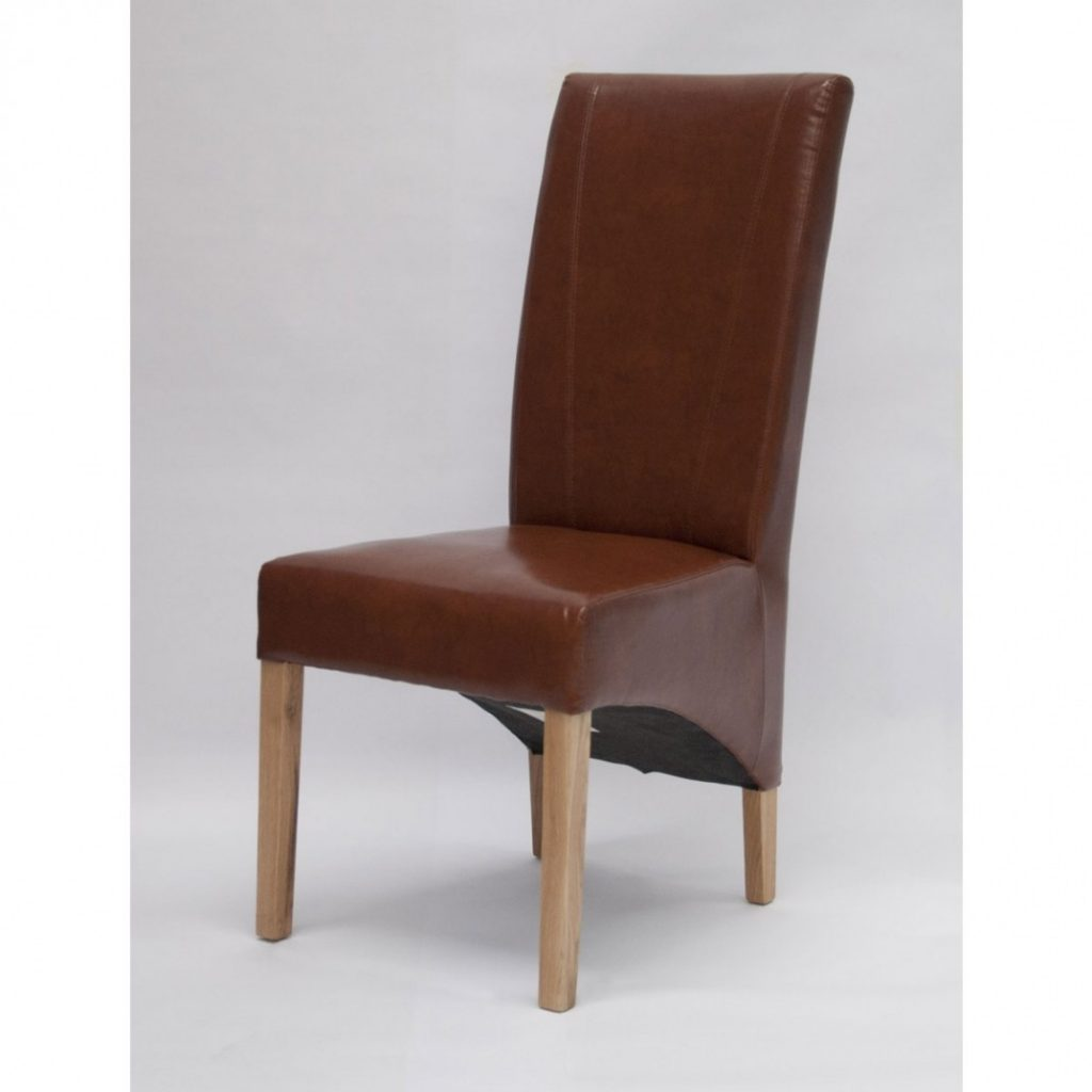 Leather Chair Upholstered Dining Room Chairs With Arms Light Brown