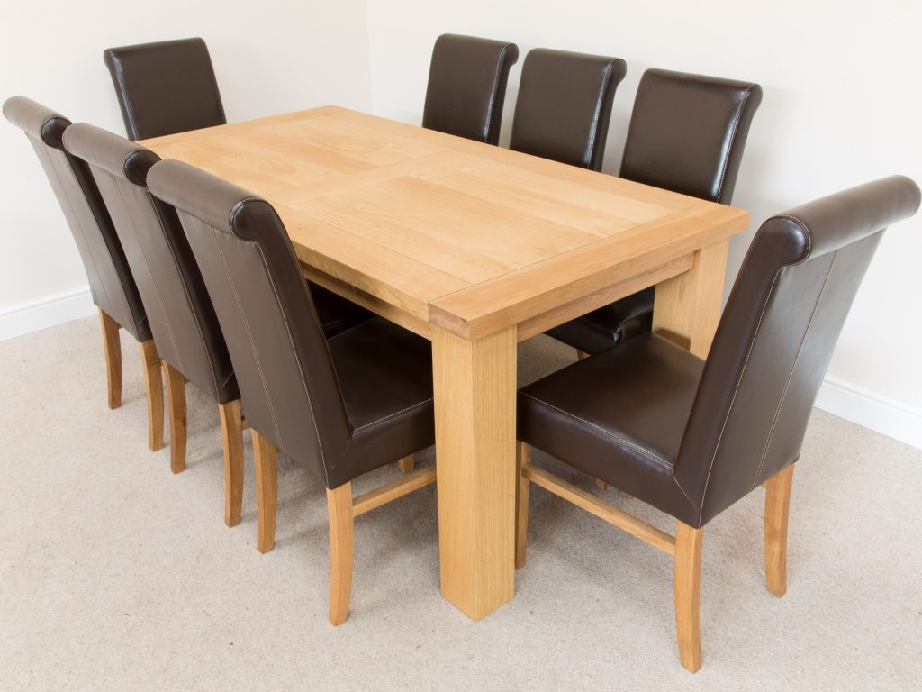 Leather Chairs For Dining Table Inspiration Brown Leather Dining