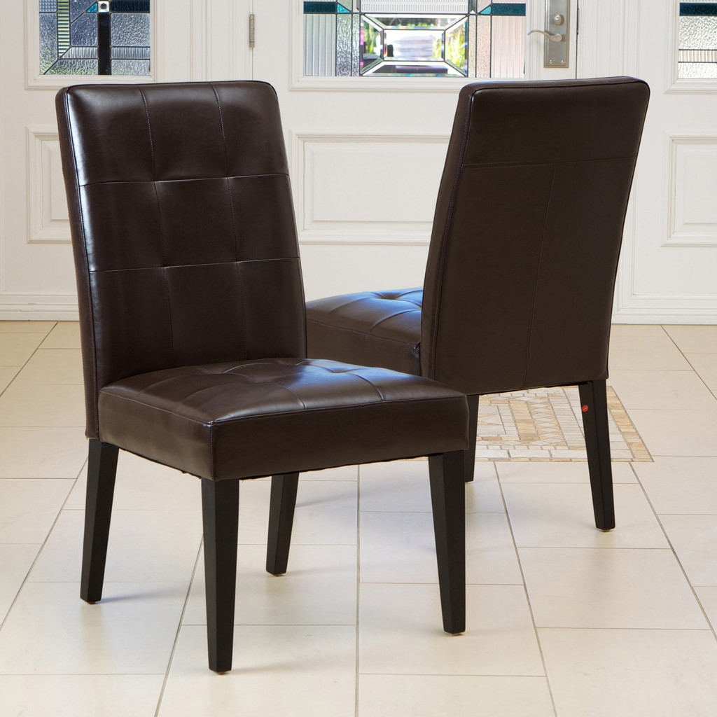Leather Dining Room Chairs Brilliant Ideas For Emejing Furniture