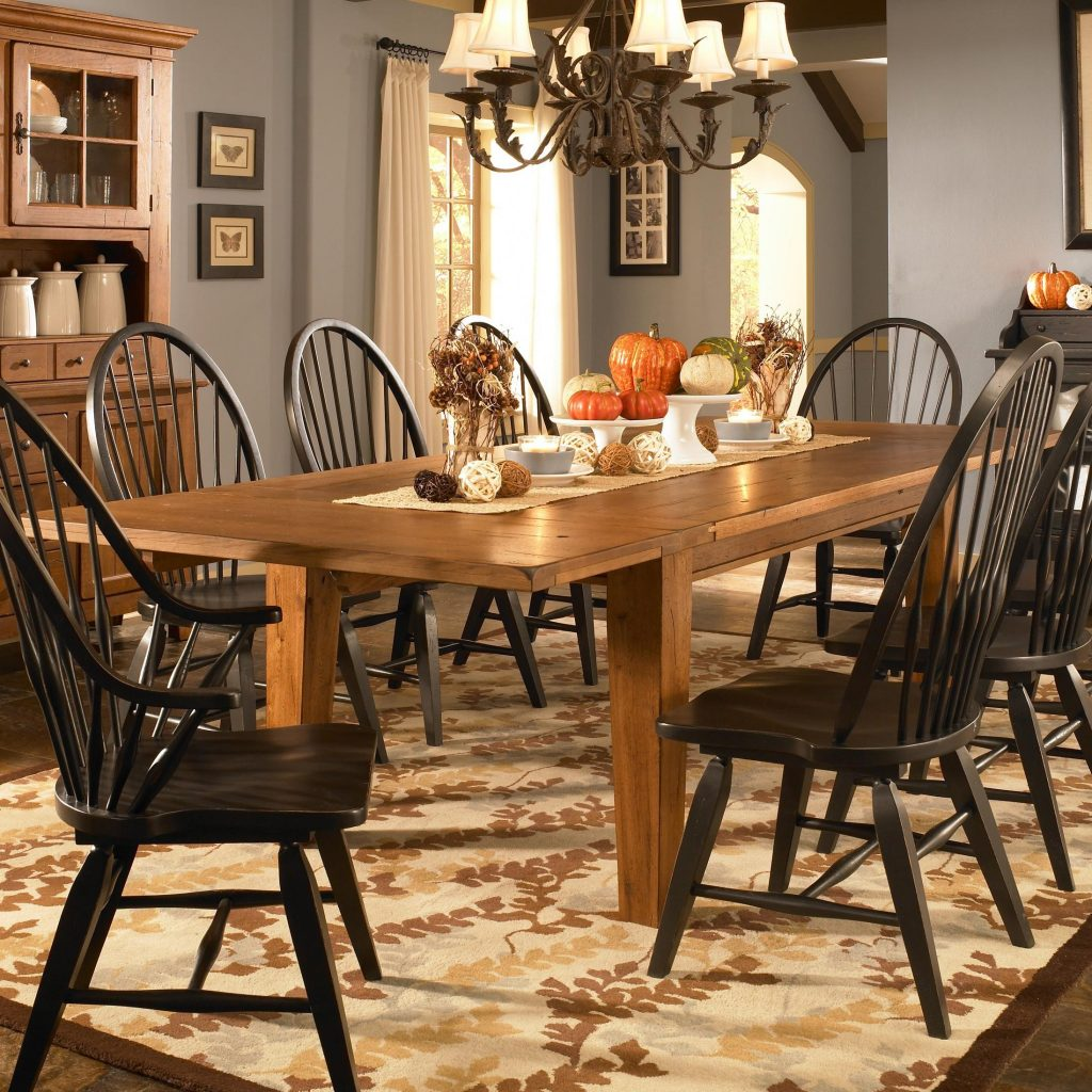 Leg Dining Table With Leaves Broyhill Furniture Wolf And