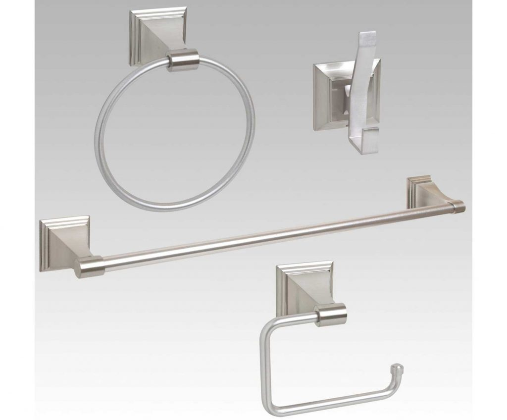 Likeable Bathroom Cool Design Of Brushed Nickel Accessories At Satin