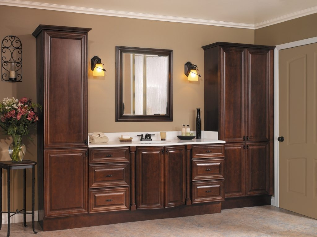 Likeable Bathroom Vanities Linen Cabinet Sets In And Home Design