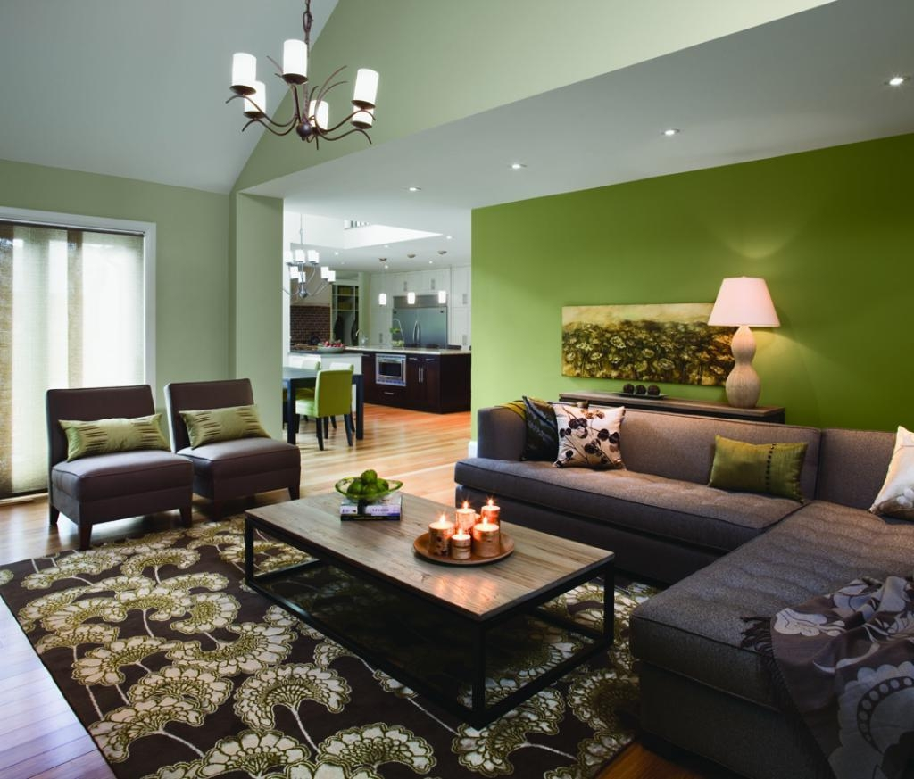 Living Room Decor With Green Walls Ideas