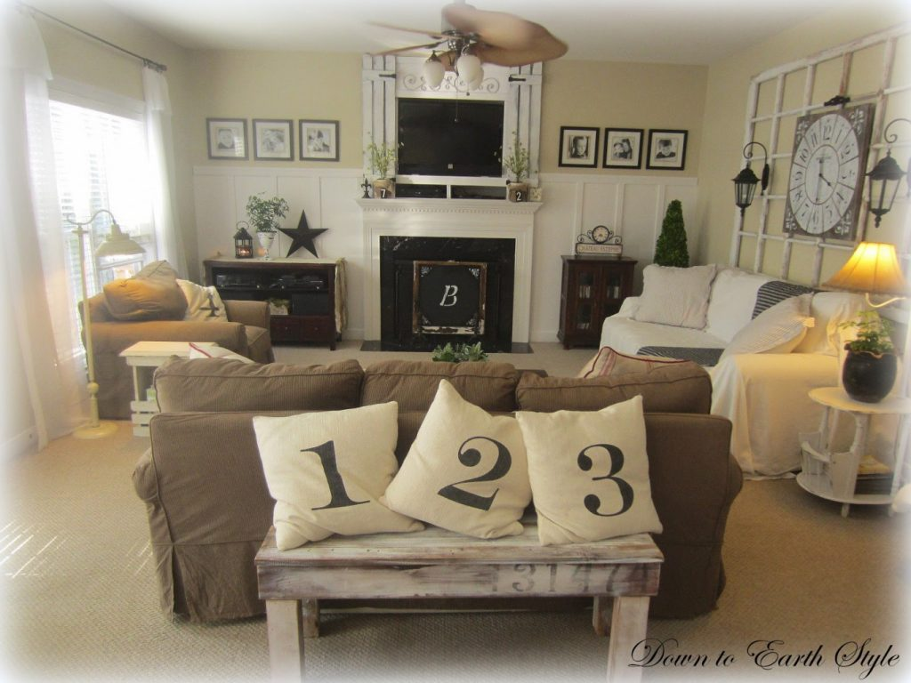 Living Room Design Earth Tones