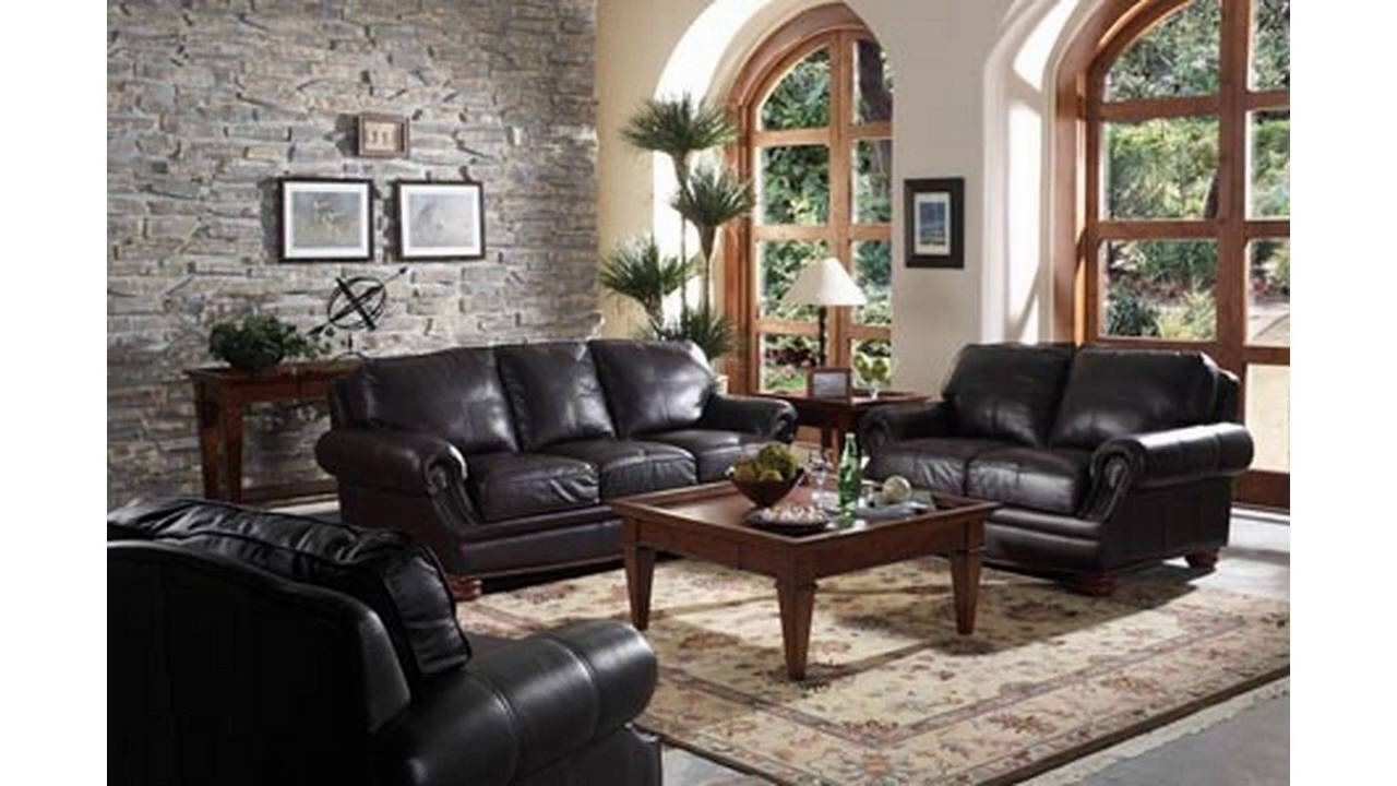 Living Room Ideas With Black Sofa Youtube Layjao