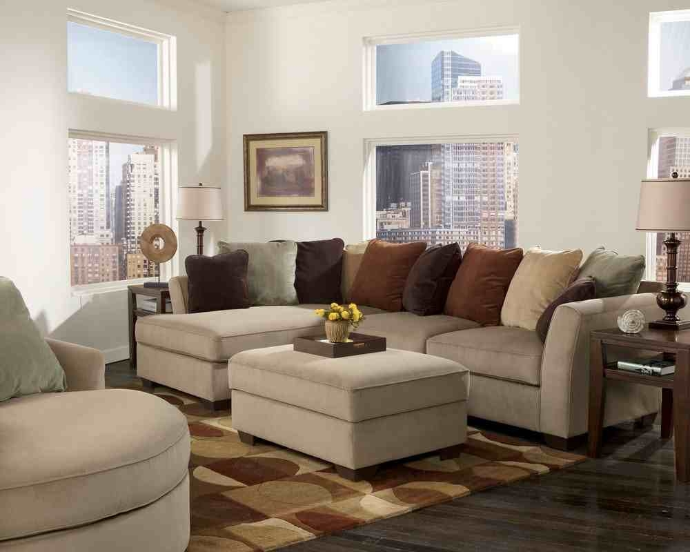 Living Room Microfiber Sectional With Chaise And Recliner Deep