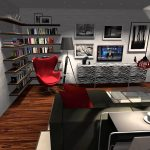Living Room Office Space