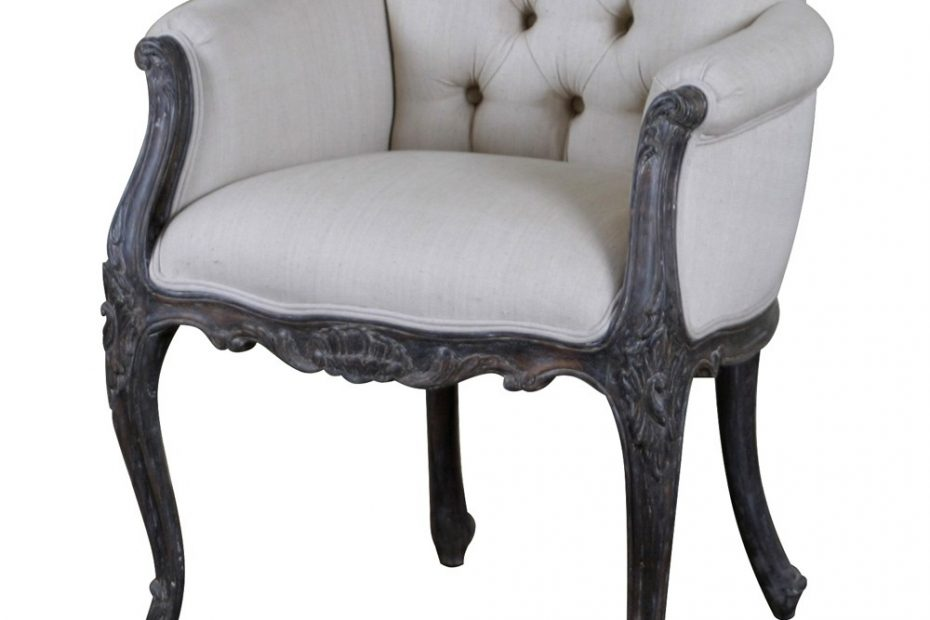 Louis Upholstered Low Back French Armchair Crown French Furniture